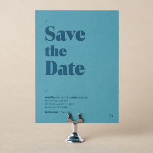 Romilly save the date design
