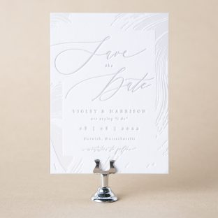 Triton save the date design
