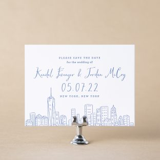 Warehouse save the date design