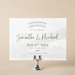 Warren save the date design