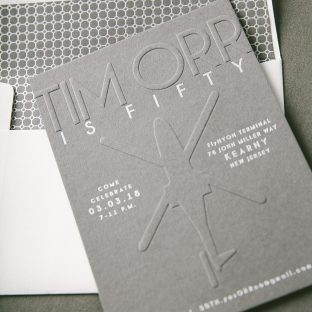 blind embossed birthday invitations
