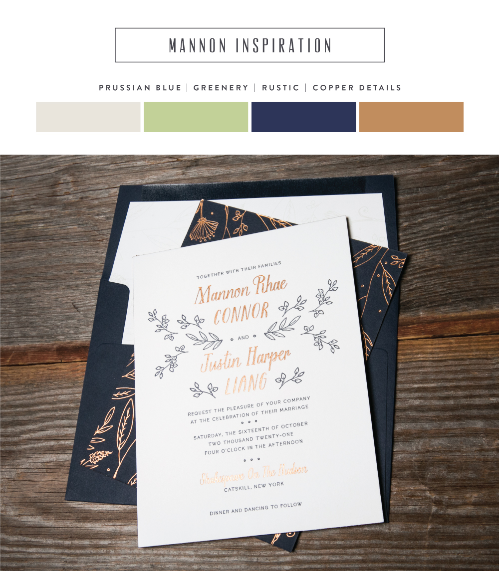 autumn inspired wedding invitations