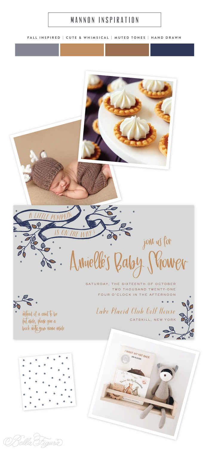 whimsical baby shower invitation