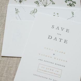 charcoal and bronze shine save the dates