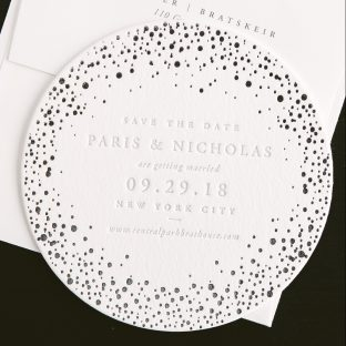 letterpress coaster save the dates