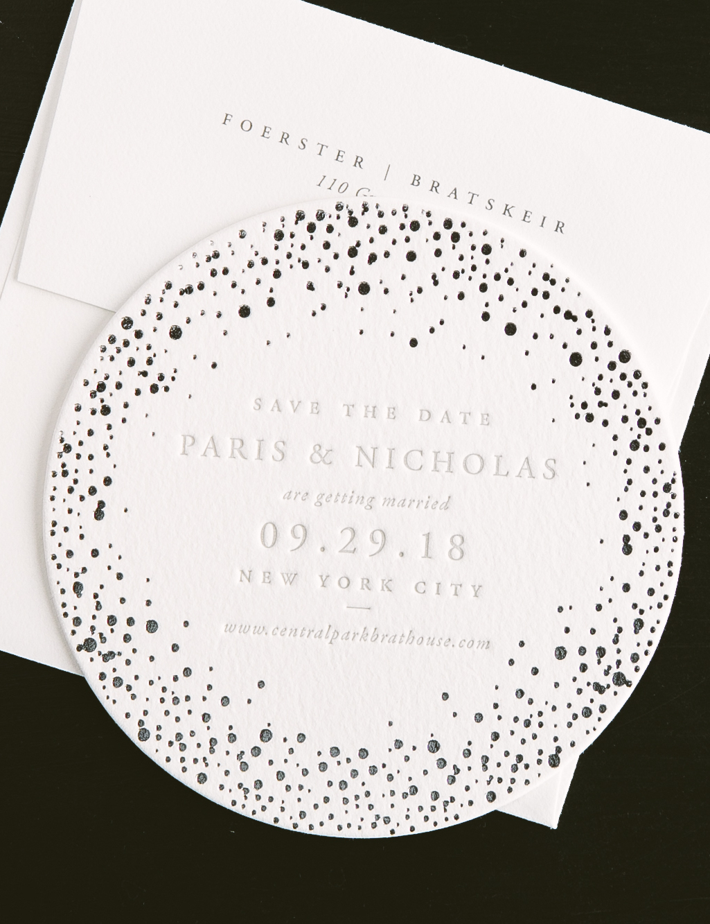 letterpress coaster save the dates