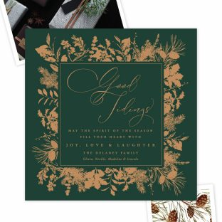 copper foil holiday cards