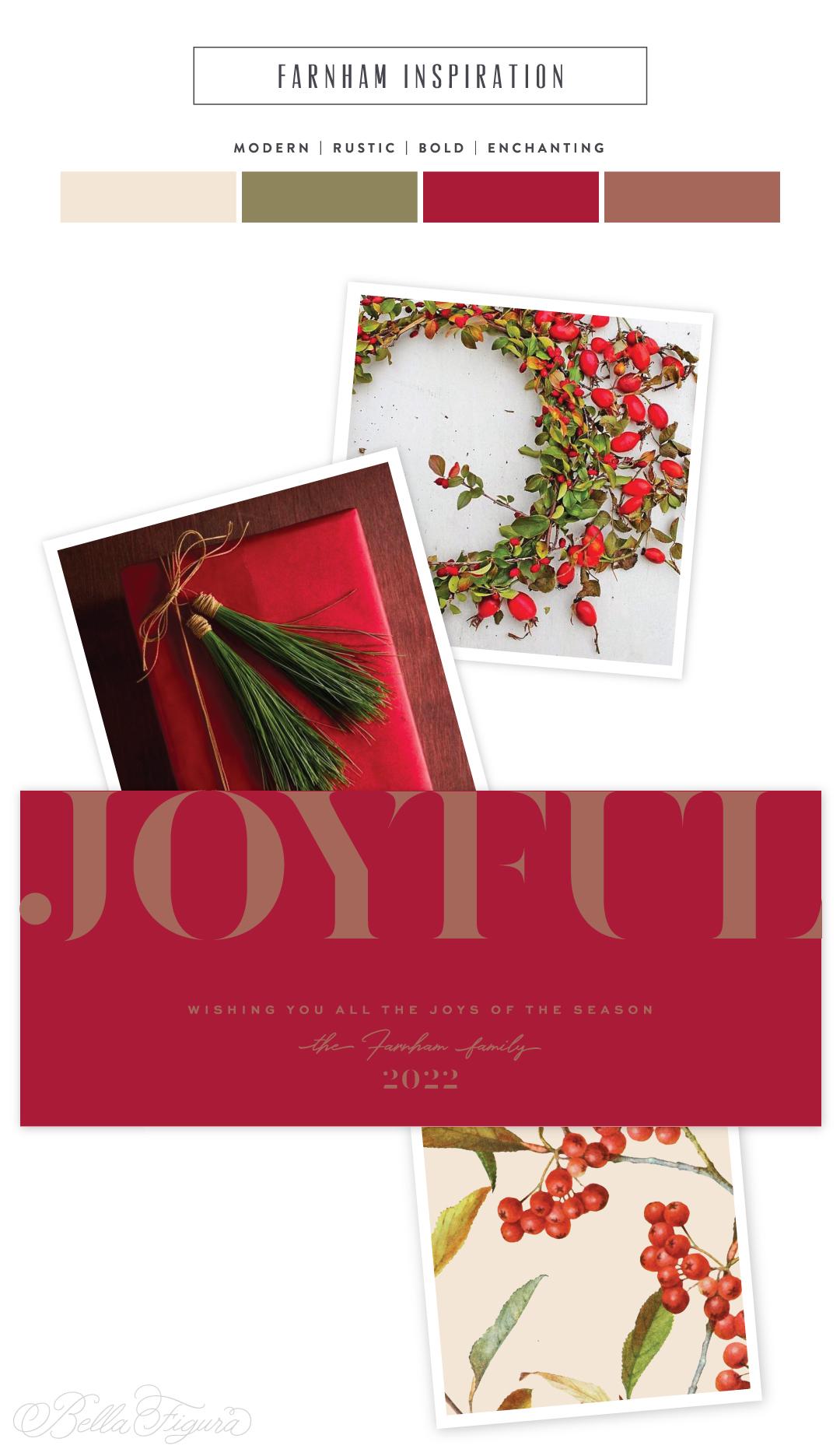 bold maple shine holiday cards