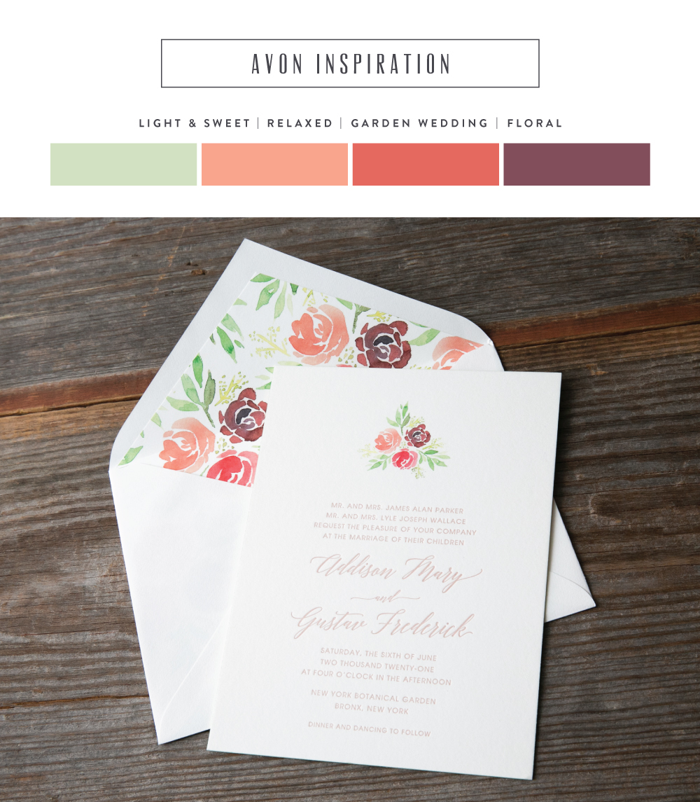light and sweet letterpress wedding invitations