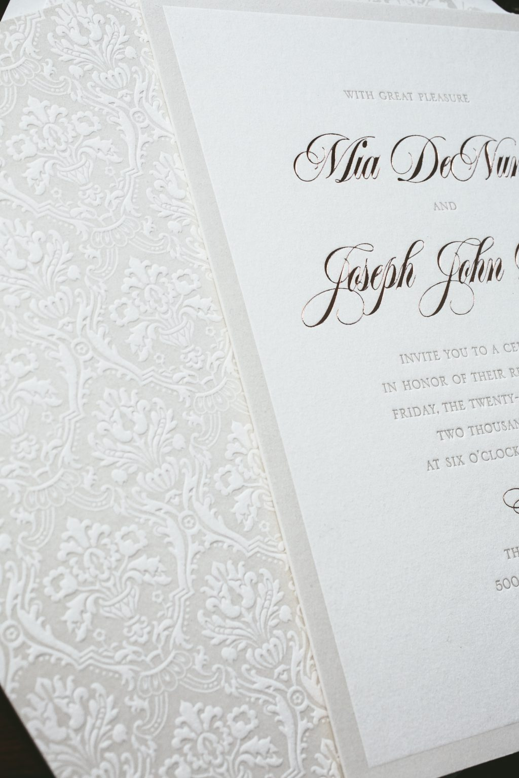 letterpress celebration invitations
