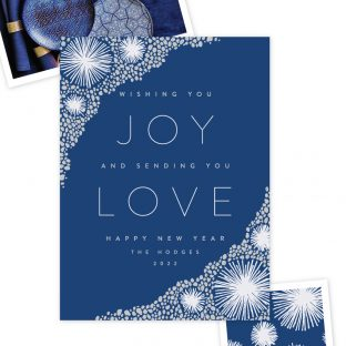 modern foil stamped new year card design