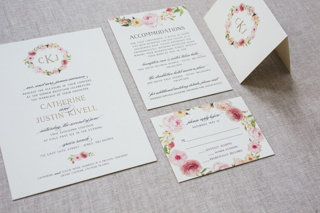 monogrammed letterpress wedding invitations