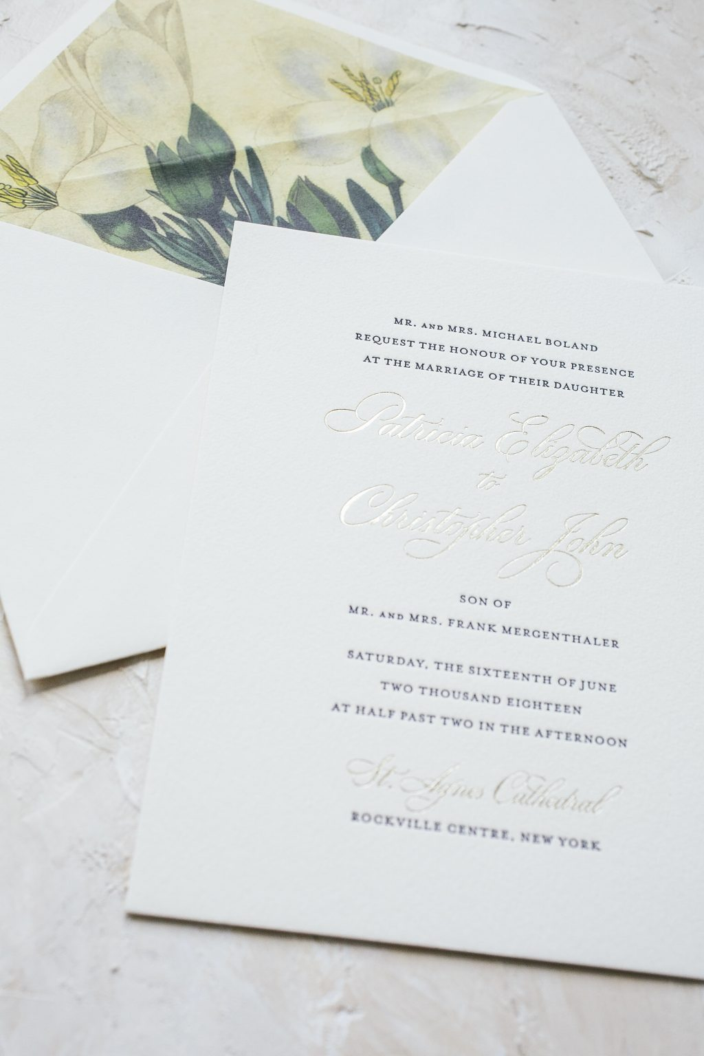 tawny matte wedding invitations