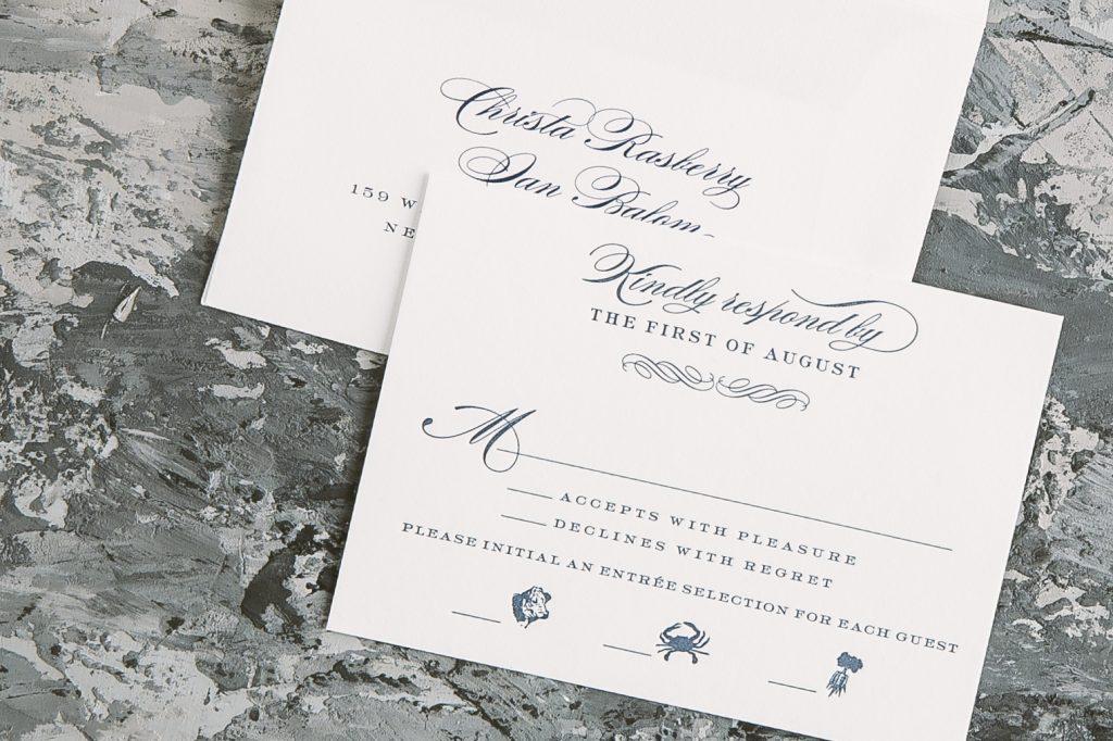 gold matte foil wedding invitations