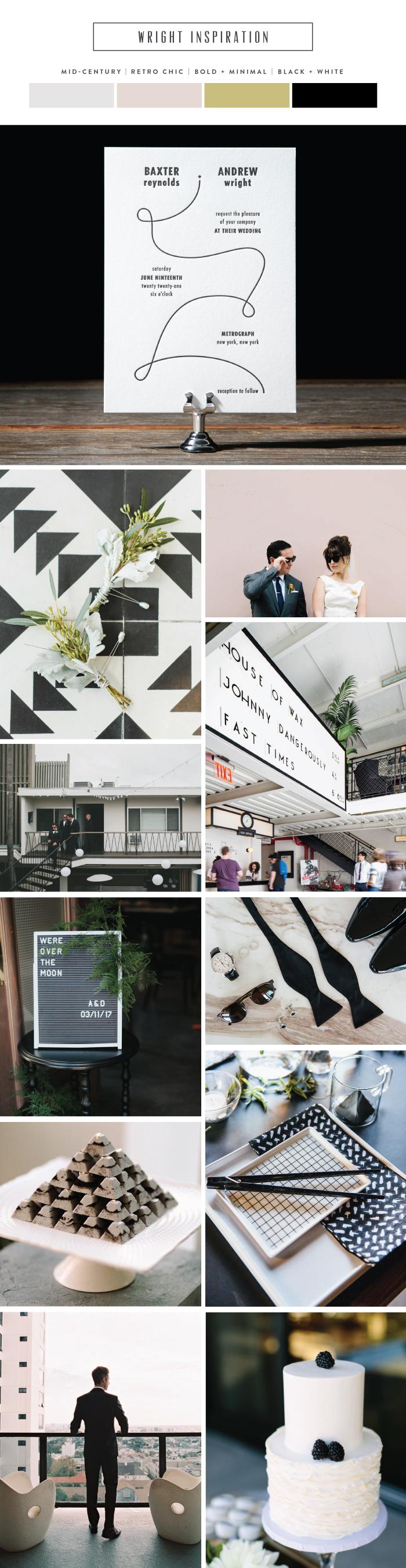 minimalist inspired wedding invitation