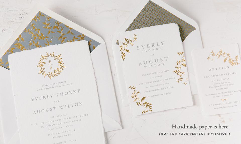 Letterpress wedding invitations from Bella Figura