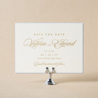 Kahn save the date design