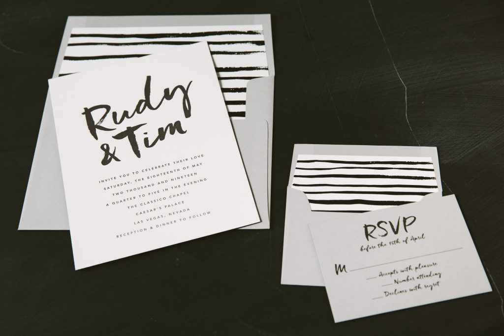 jenson inspired letterpress wedding invitations