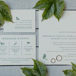Alder inspired wedding invitations