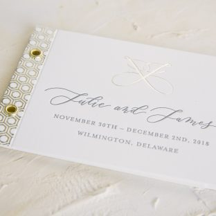 Foil welcome booklets