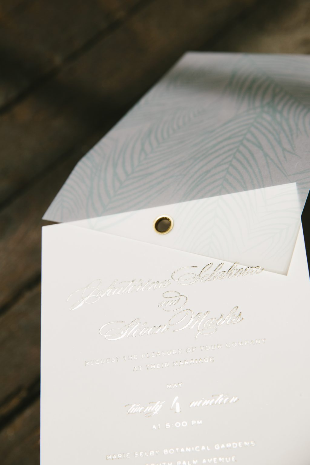 tawny foil save the dates