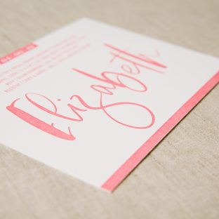 letterpress bridal shower invitations