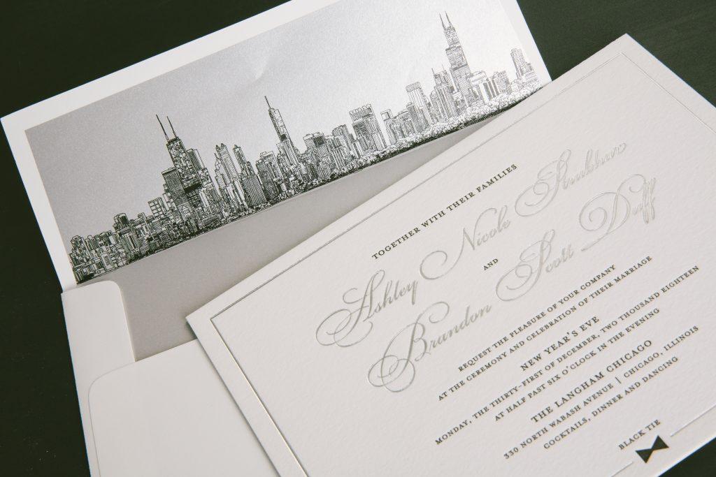 New Year's Eve wedding invitations