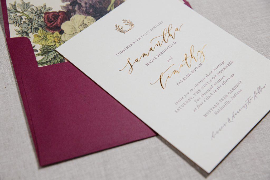 Copper foil invitations