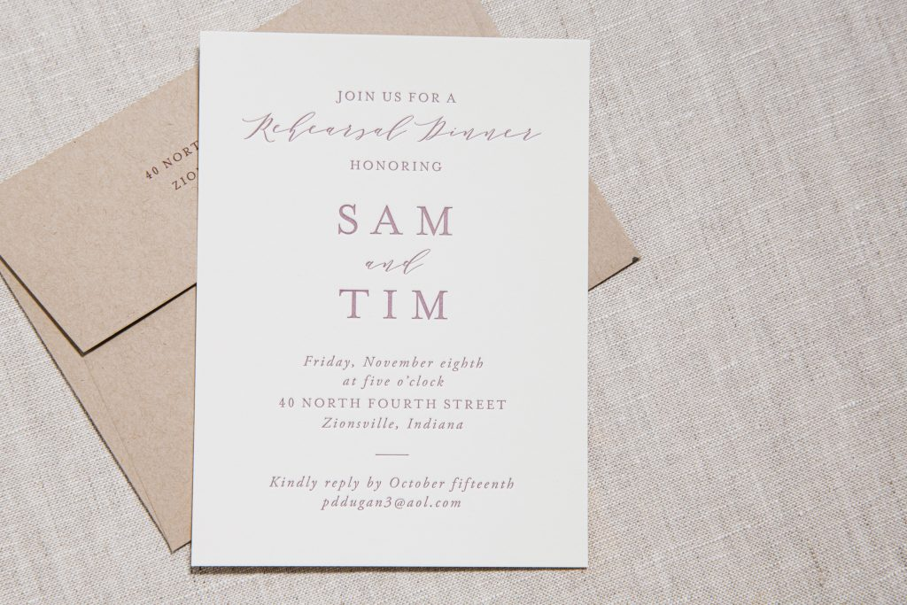 Copper foil invitations