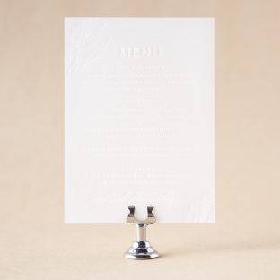 Annsley Menu design