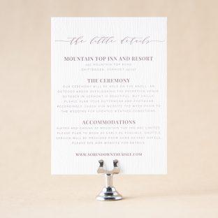 Arboretum Details Card design
