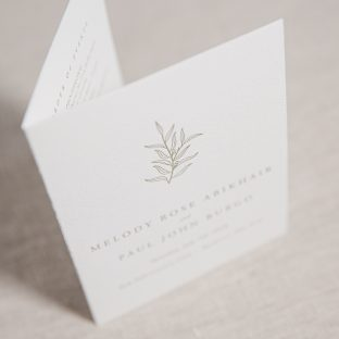 Hunter letterpress day-of stationery