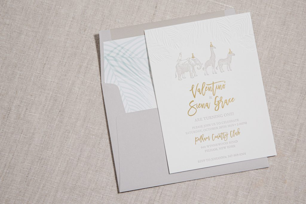 Letterpress birthday invitations