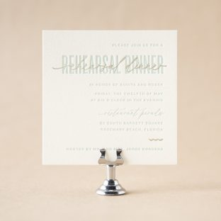 Coastal Rehearsal Dinner Card design