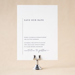 Darby Save the Date design
