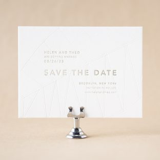 Goldman Save the Date design