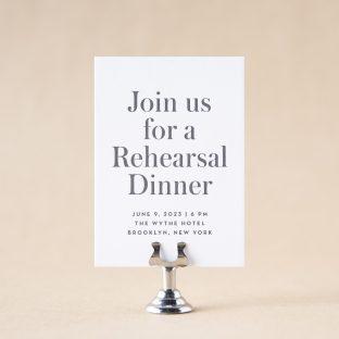 Headline Rehearsal Dinner Card design
