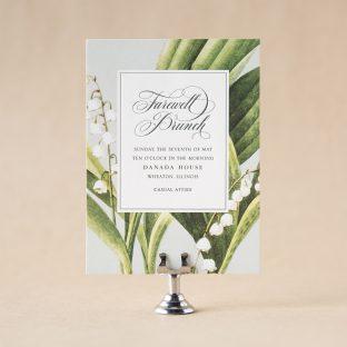 Hemingway Brunch Card design