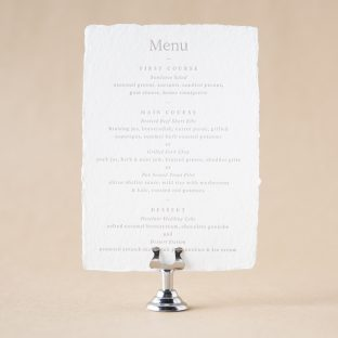 Hollyn Menu design