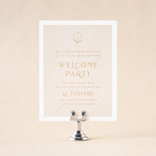 Loley Welcome Party Card design