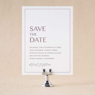 Modena Save the Date design