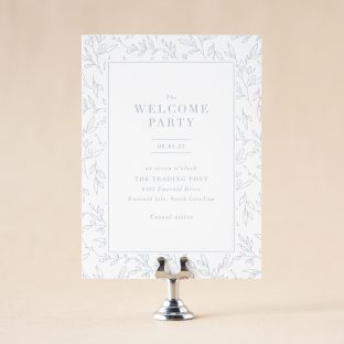 Novella Welcome Party Card design