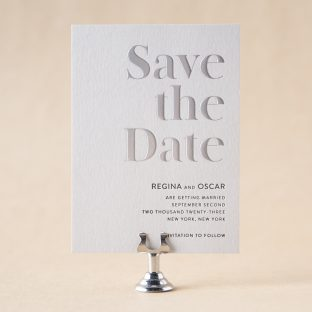 Regina Save the Date design