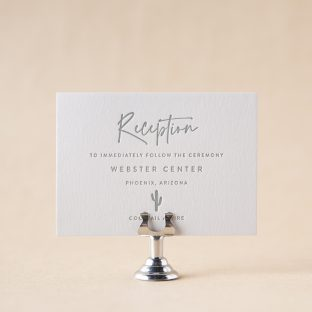 Saguaro Reception Card design