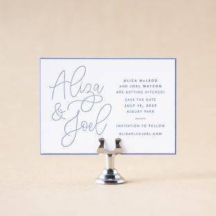 Aliza Save the Date design