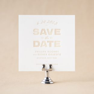 Rooney Save the Date design