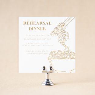 Umi Rehearsal Dinner Card design