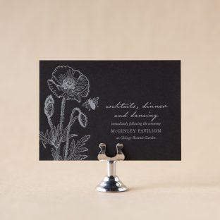 Underwood Reception Card design