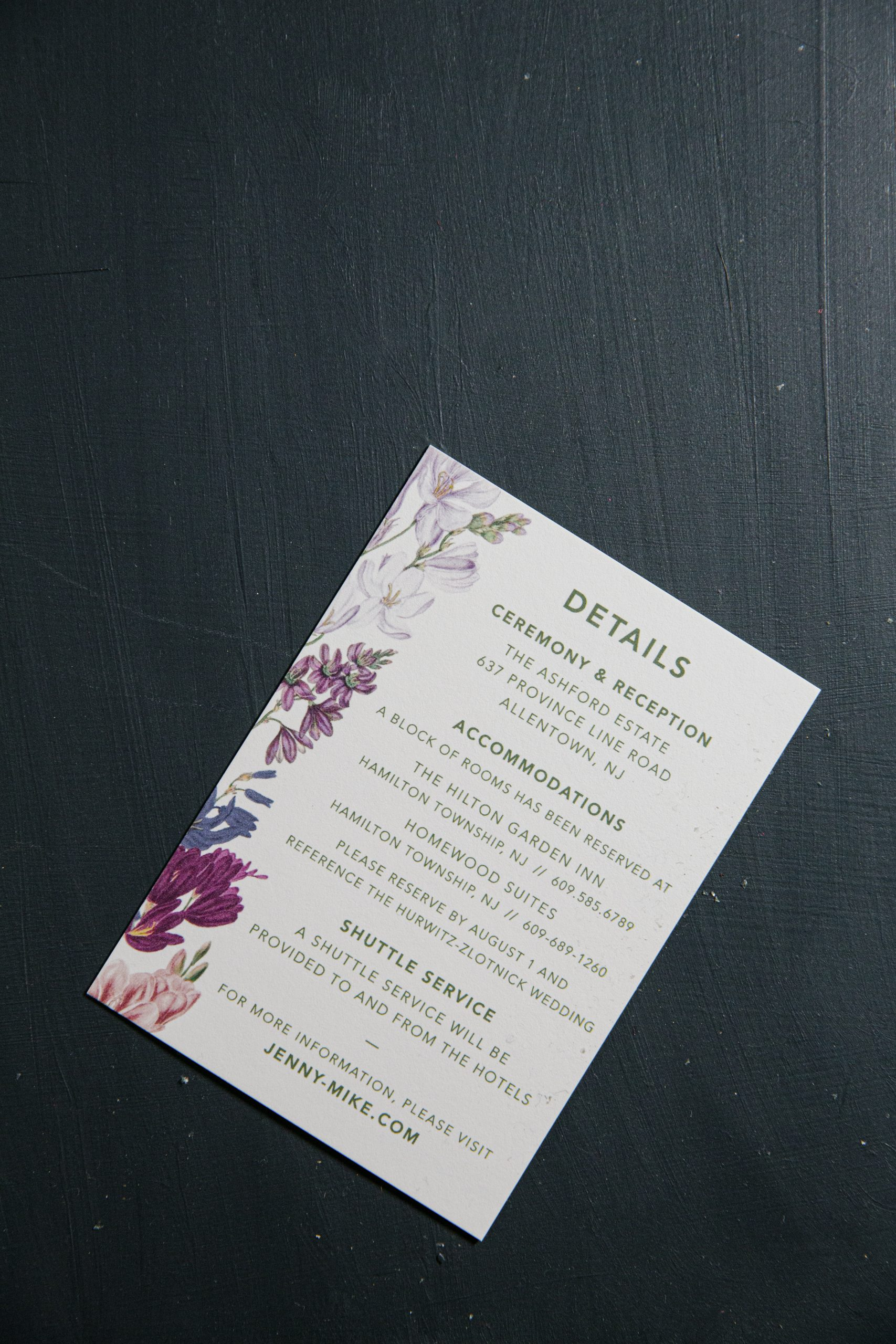 Vintage floral wedding invitations