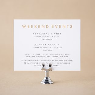 Parrish Events Card design